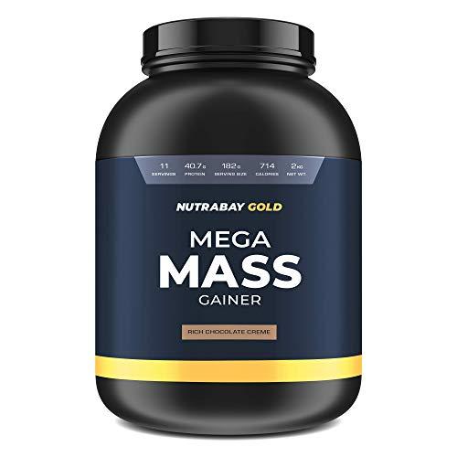Nutrabay Gold Mega Mass Gainer - 2Kg (Rich Chocolate Creme)