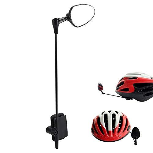 Espejo retrovisor para casco de bicicleta, Espejo retrovisor de seguridad para casco, Espejo retrovisor para bicicleta de carretera de bicicleta de montaña para todos los tamaños de casco