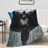 Manta súper suave para decoración, diseño de Batman, arte artístico, cómic, volar, una manta adecuada para niños (100 x 130 cm)