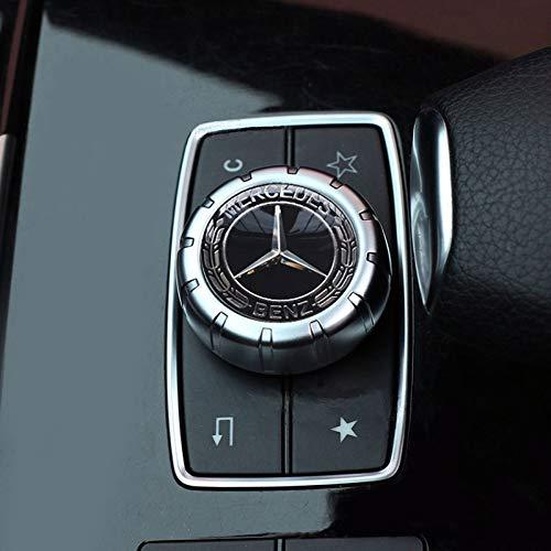Mercedes-Benz Auto-AMG-Emblem Stil Innenraum Multimedia-Steuerung Aufkleber Abzeichen Dekoration Logo (schwarz)