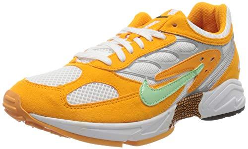Nike Herren AIR Ghost Racer Laufschuh, Orange Peel Aphid Green Pure Platinum, 42.5 EU