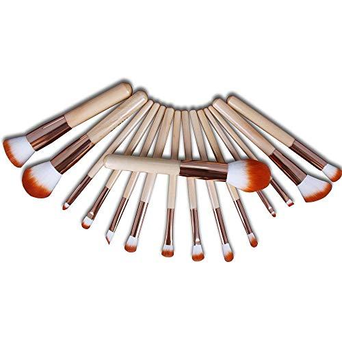 15 Pcs Maquillage Pinceau Pour Fondation Mélanger Blush Ombre À Paupières Concealer Avec Poils De Fibres Synthétiques Brosse à maquillage XXYHYQ