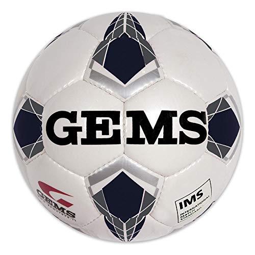 GEMS Pallone Calcio Olimpico Viper (Bianco Nero, 5)