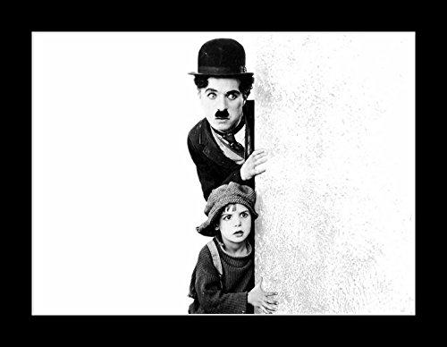 Celebrity Framed Art 8 X 10 Tout en Bois avec Cadre Photo D. Coogan, Jackie (Kid, The) et Charlie Chaplin 11 x 14