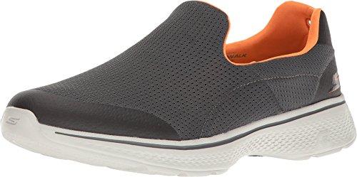 Skechers Performance Men's Go Walk 4 Incredible Walking Shoe, Charcoal/Orange, 10.5 M US