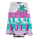 Miami Vice Unisex Salon Hair Cutting Shawls, Men and Women at Home Haircutting Barber Shop Or Hair Salon Apron