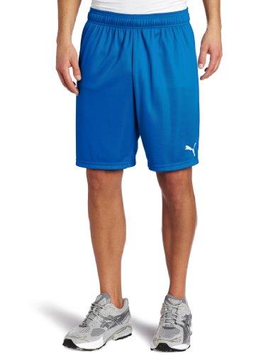 Puma Men's Team Shorts without Inner Slip, Youth X-Large, Puma Royal-White