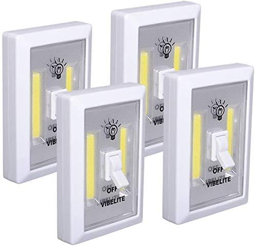 Closet Light, Battery Operated, Tap Light, Touch, Push Night Lights, Wall Wireless Mount Under Cabinet, Shelf, Shed, Kitchen, Garage, Attic, RV, DIY(4-Pack)