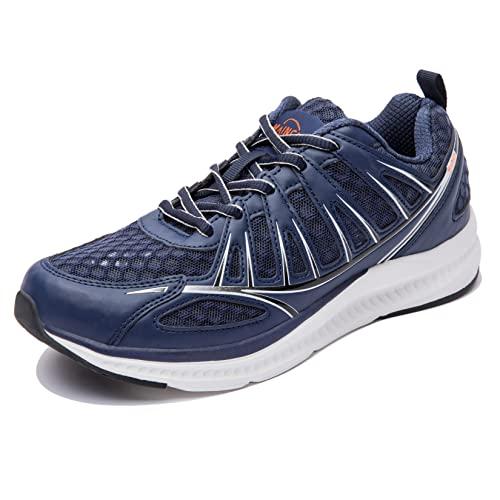 Josaywin Hombre Zapatillas de Correr Zapatillas de Running Malla Transpirable Calzado para Correr por Carretera Sneakers Ligeras Zapatos de Deportivos Antideslizantes para Exterior Azul Oscuro 50