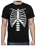 Green Turtle T-Shirts Camiseta para Hombre - Xray Rib Cage Usar en la Noche de Brujas, Halloween Large Negro