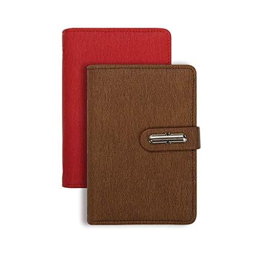 JIALI Cuaderno Simple Espesar Exquisito Estudio Cuaderno de Notas de Notas de Notas (2 Piezas) Ordenar (Color: a, Tamaño: 11 * 14.7cmcm) (Color: I, Tamaño: 11 * 14.7cmcm)