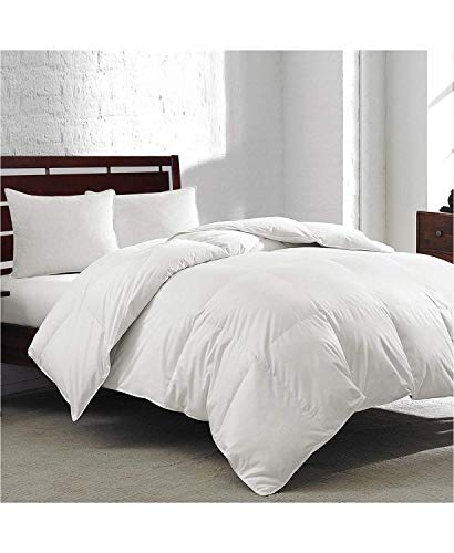 Royal Luxe White Goose Feather & Down 240 Thread Count King Comforter White