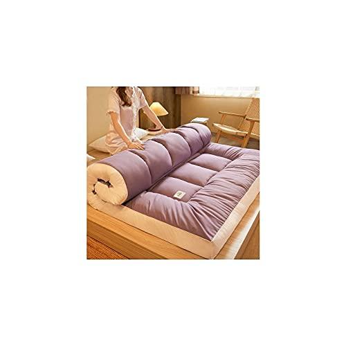 HUANXA Colchón de futón Plegable japonés, colchón de Piso Grueso, Doble, Reina, Rey, Tatami, Almohadilla para Dormir portátil, Almohadilla para colchón para Cama de Piso