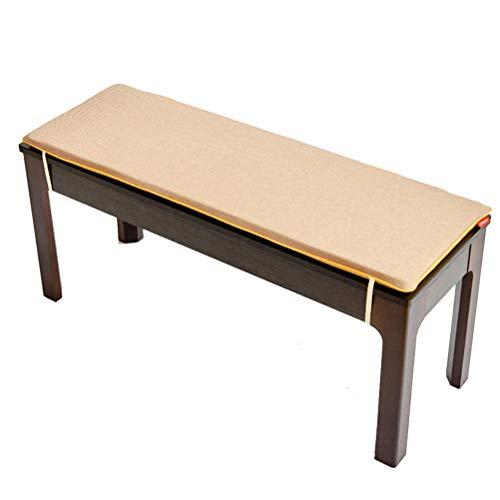 jHuanic - Cojín largo para banco de 2 o 3 plazas, almohadilla de repuesto para colchón de asiento de silla, interior y exterior, para banco de jardín o columpio, marrón, 120x35cm