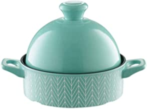 WZWHJ Green casserole, stylish and exquisite, high temperature resistant, safe and healthy