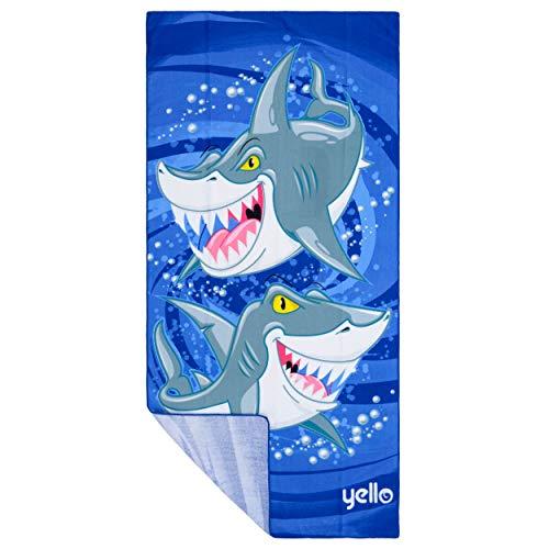 Yello BGG1591 - Toalla de Mano, diseño de tiburón, Color Azul