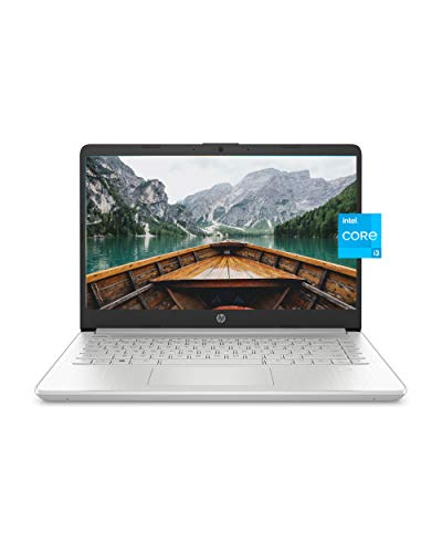 HP 14 Laptop, 11th Gen Intel Core i3-1115G4, 4 GB RAM, 128 GB SSD Storage, 14-inch Full HD Display, Windows 10 in S Mode, Long Battery Life, HP Fast-Charge, Thin & Light Design (14-dq2020nr, 2021)