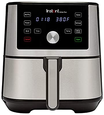 Instant Vortex Plus 6-in-1 Air Fryer, 6 Quart, 6 One-Touch Programs, Air Fry, Roast, Broil, Bake, Reheat, and Dehydrate by Instant Pot