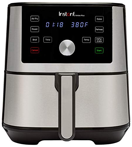 Instant Vortex Plus 6-in-1 Air Fryer, 6 Quart, 6 One-Touch Programs, Air Fry, Roast, Broil,...