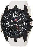U.S. Polo Assn. Relógio esportivo masculino US9250 branco analógico digital esportivo