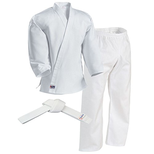 Redox Karate gi, Karate Uniform for Kids & Adult, Martial Arts Uniform, Martial Arts Pants, Middleweight, Size 0000~7/White (6/190)