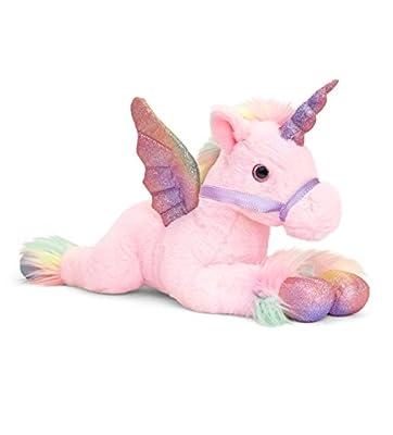 Keel Toys SF2121AMA Pegasus - Peluche (50 cm), Color Rosa