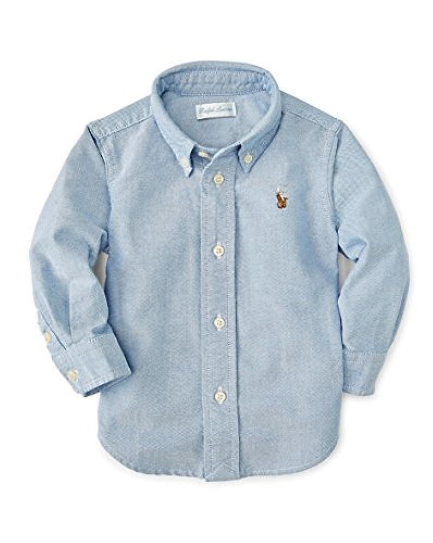 ラルフローレン Ralphlauren オックスフォードボタンダウンシャツ ブルー 24m(85-90cm) [並行輸入品]