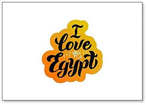 Ik hou van Egypte Lettering Koelkast Magneet