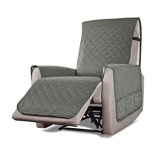 VanderHOME Funda Sillon Relax reclinable Elastica Completo Protector para Sillón Reclinable Cubierta Protectora Sillon Funda Universal Funda Sillon 1 Plaza S Gris Claro