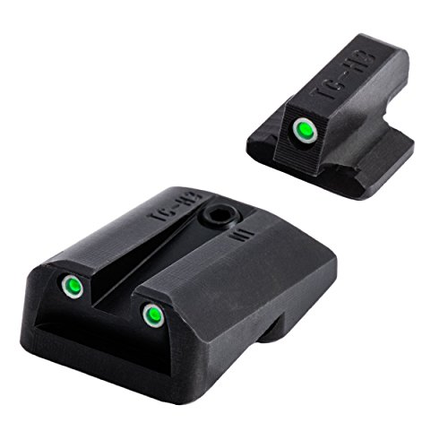 TRUGLO Tritium Handgun Glow-in-The-Dark Night Sights for 1911 Pistols, 260 Front, 450 Rear, Black, One Size