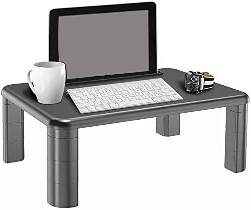 ZXL Monitorstandaard met instelbare hoogte en opbergorganisator voor computers, printers, laptop, bureau, tablet- en telefoonhouder, kabelgleuf