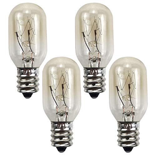 SOLUSTRE 4Pcs E12 15W Bombillas de Luz para Horno Bombillas de Repuesto para Electrodomésticos de Microondas Transparentes Bombillas de Lámpara de Filamento de Tungsteno Resistentes Al
