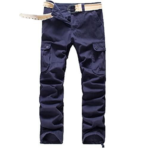 DEBND Pantalones tcticos para hombre, ligeros, con muchos bolsillos, Ripstoppara caza, senderismo