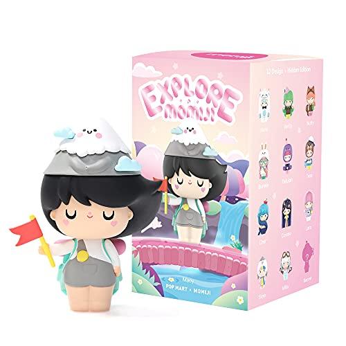 POP MART Momiji Blind Box Toy Box Bulk Popular Collectible Random Art Toy Hot Toys Cute Figure Creative Gift, for Christmas Birthday Party Holiday (Single Box-Explore)