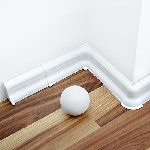 [DQ-PP] 20 Meter Sockelleisten 52mm PVC Weiß Laminatleisten Fussleisten aus Kunststoff PVC Laminat Dekore Fußleisten
