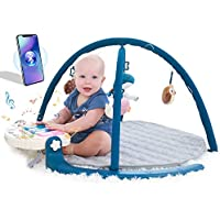 Angelbliss Activity Gym Baby Play Mat with Music and Detachable Piano (Blue)