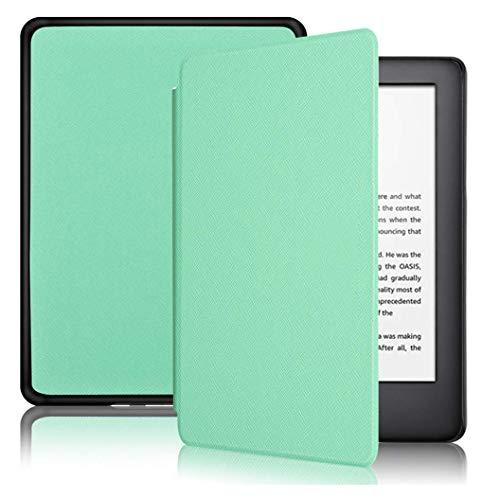 Capa Kindle Paperwhite 10ª geração à prova d'água - Função Liga/Desliga - Fechamento magnético - Cores (Verde Menta)