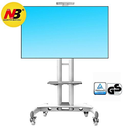"""AVA1500WHT - Supporto TV da pavimento con ruote Carrello Staffa Porta Mobile Supporto per schermi da 32\"""" a 65\"""" (81-165 cm) con portata max. 45,5 kg"""