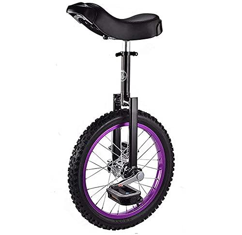 Monociclo para niños de 16 Pulgadas, Bicicleta de Ejercicio de Equilibrio con Asiento cómodo y Rueda Antideslizante, para niños de 9 a 14 años Bicicleta de Equilibrio Bicicleta para niños