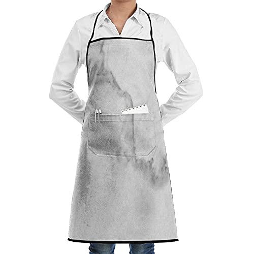 LOSNINA Tablier de cuisine pour femme et homme,pour Cuisine Familial,Restaurant,BBQ,cooking,Jardin,Tablier pour Serveurs Gris Carrera Carrare Marbre Granit Blanc Élégant