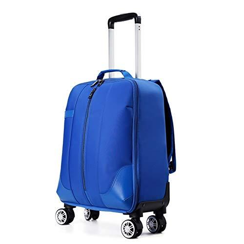Maleta Blanda Ruedas giratorias Equipaje de Luggage International Carry On Expansible Trolley...