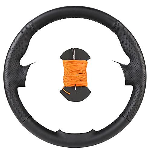 Funda de volante de coche personalizada, para Citroen C4 C4L 20112015 DS4 auto cuero artificial envoltura de dirección
