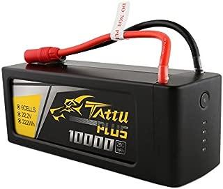 Tattu Plus 22.2V 10000mAh 6S 25C Smart LiPo Battery Pack with AS150+XT150 Plug and BMS for DJI S800 Walkera QR X800 FreeFly CineStar 6 FreeFly CineStar 8 Freefly ALTA