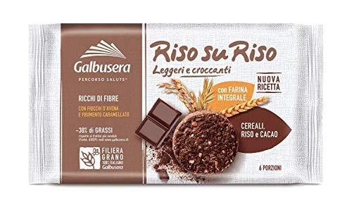 Galbusera RisosuRiso Biscotto con Farina Integrale, Riso, Cereali e Cacao - Pacco da 12 x 220 g