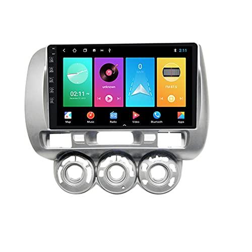 ADMLZQQ Autoradio Android 9.0 per Honda Jazz 1 Fit 2001-2008 Radio FM Navigazione GPS Lettore USB Vivavoce Bluetooth Controllo del Volante+Telecamera Posteriore,4 cores WiFi:2+32g