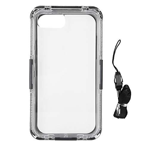 Fundas a Prueba de Agua para iPhone 6 / 6s Plus / 7/8 Plus, teléfonos IP68 Protector Submarino Pantalla de Cuerpo Completo incorporada(Negro)