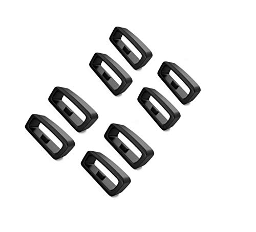 Vivosmart HR Fastener Ring Strap Loop Compatible with Garmin Vivoactive 4S/Vivomove 3S/Vivosmart HR/Vivosmart HR+/Vivosport/Vivofit 1/Vivofit 2/Approach X40/Approach X10 Bands Silicone Secure Ring
