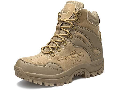 SINOES Stiefel Herren Wanderschuhe Damen Trekkingschuhe Armee Combat Tactical Boots Verschleißfest rutschfeste Outdoor Einsatzstiefel Für Maenner