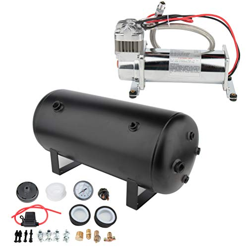 cciyu 12V 200 PSI Air Compressor 5 Gal Air Tank Replacement for Train Car Truck Boat RV