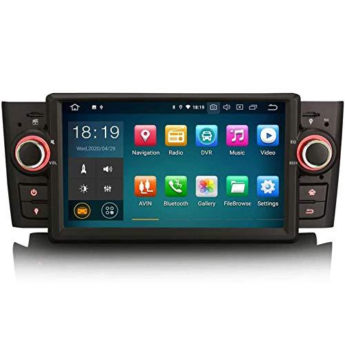 MIVPD Sat Nav para Fiat Punto Linea Reproductor Multimedia Receptor de Video Android 10.0 Unidad Principal de navegación GPS estéreo Soporte de Pantalla táctil de 7 Pulgadas